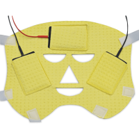 face-mask - with 3 electrodes and cable